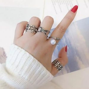 925 Sterling Star Adjustable Silver Ring